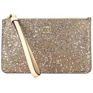 Boxed Star Glitter Wristlet (Gold)